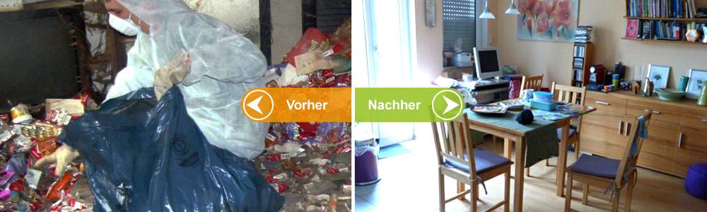 Aufräumen Vorher Nachher messie hilfe aufräumen in messiewohnungen hilfe beim aufräumen
